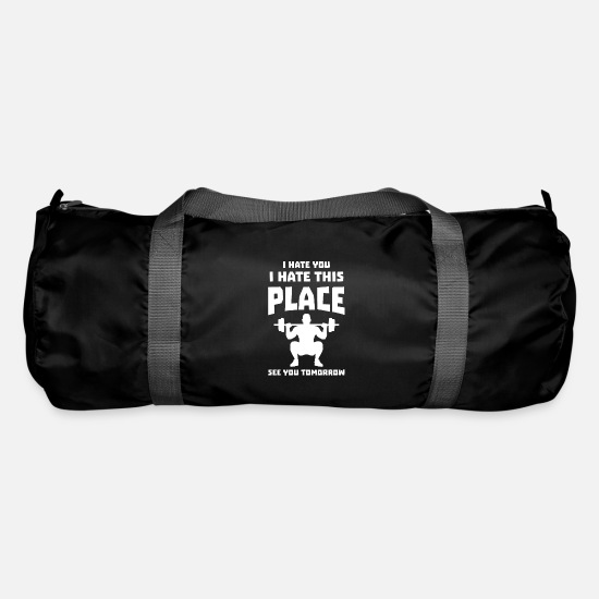 Birthday Bags & Backpacks - I hate you - Gym Edition - Duffle Bag black
