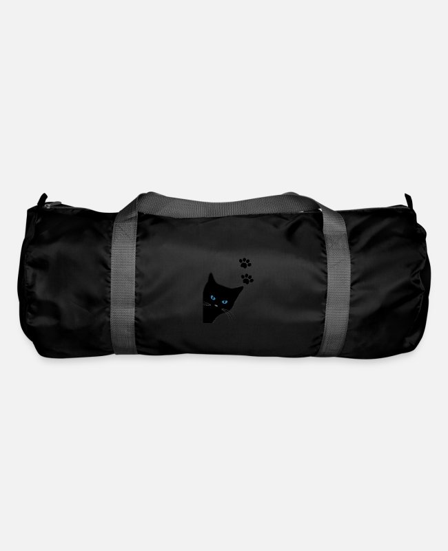 Design Bags & Backpacks - kitty with blue eyes - Duffle Bag black