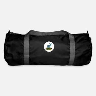 Deer with pine branch - Duffle Bag