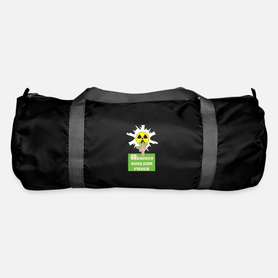 Radioactive Bags & Backpacks - Against nuclear power and nuclear energy for nuclear phase-out - Duffle Bag black