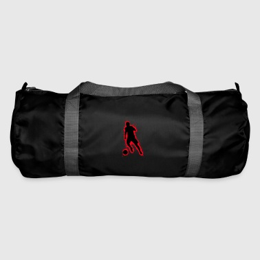 Pigskin Silhouette football red and black outline - Duffel Bag