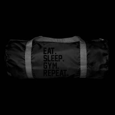 Eat Sleep Répéter Gym Fitness culturisme - Sac de sport