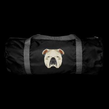 Bulldog geometric gift idea dog bulldog - Duffel Bag