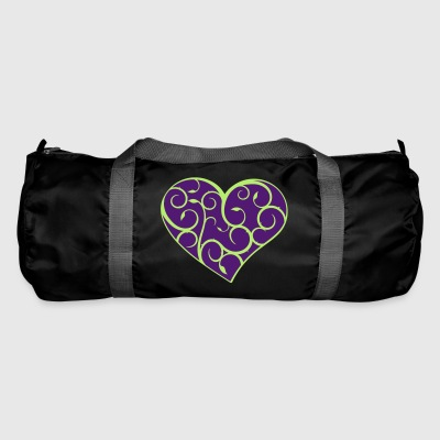 Heart ornament flourishes style with own color choice - Duffel Bag