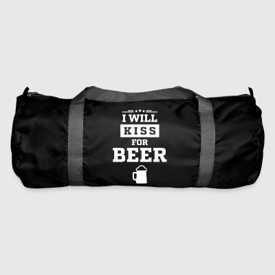 I WILL KISS FOR BEER - Sporttasche