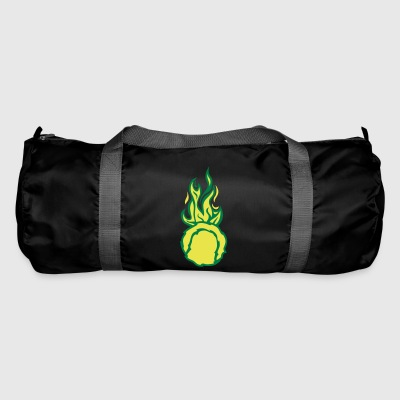 balle tennis flamme fire flame cartoon d - Sac de sport