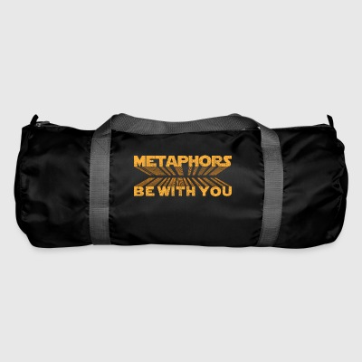Metaphors Be With You Funny Sci-Fi Pun Gift - Duffel Bag