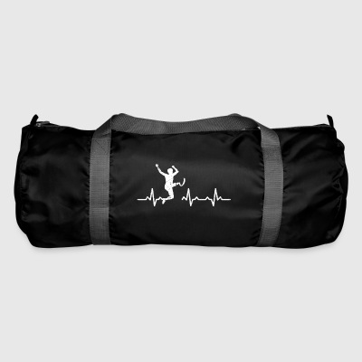 handicapped sports athlete heartbeat gift protese - Duffel Bag