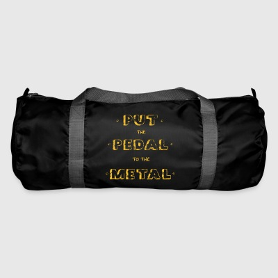 PUT THE PEDAL Vintage Old School Gift - Duffel Bag