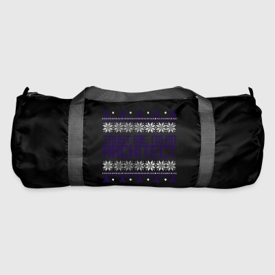 Architect ugly sweater xmas gift profession circle - Duffel Bag
