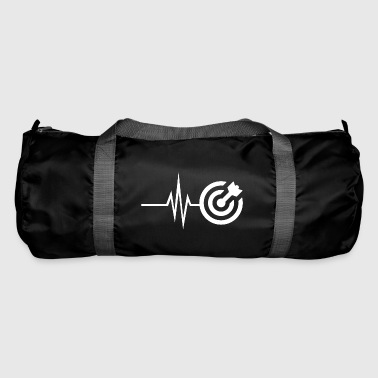 My heart beats for darts - Bullseye darts - Duffel Bag