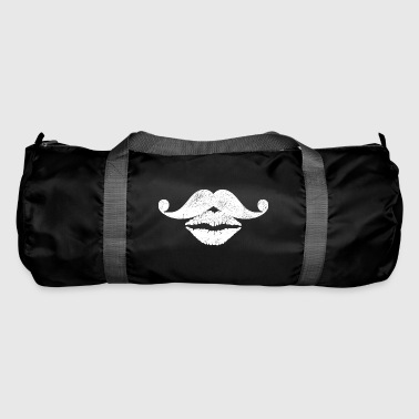 Moustache & Lèvres.Cancer Awareness.Barber.Beautician - Sac de sport