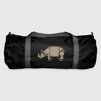 Geometric Rhino - Duffel Bag