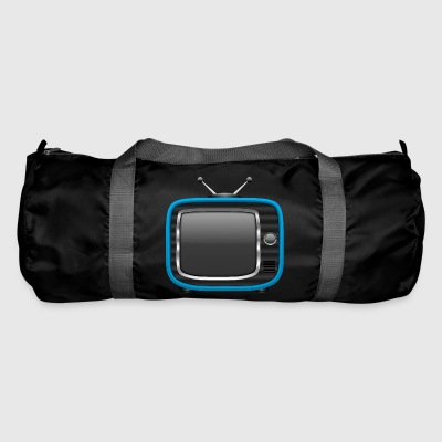 Retro Tv bleu 002 dessins ronds - Sac de sport