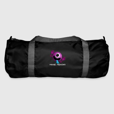 alien purple manic monday B - Duffel Bag