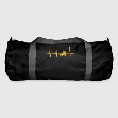 evolution ekg heartbeat skating ice ska - Duffel Bag
