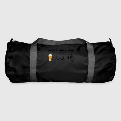 simple man boobs beer beer tits road bike cycling - Duffel Bag