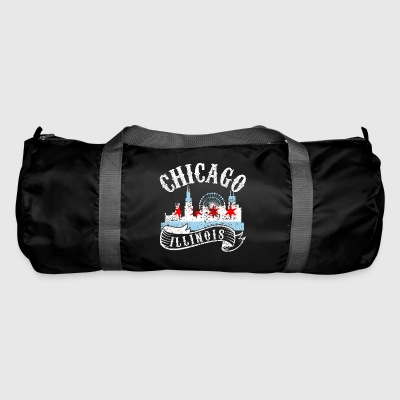 Chicago Illinois Vintage City Distressed - Duffel Bag
