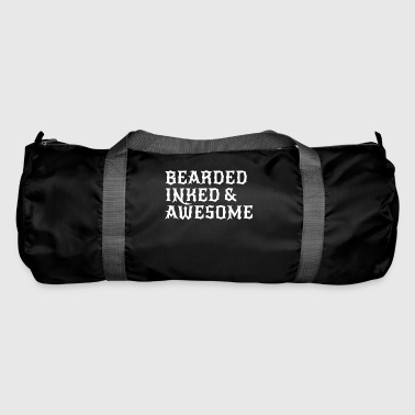 bearded inked & awesome. Beard, tattoo shirt - Duffel Bag