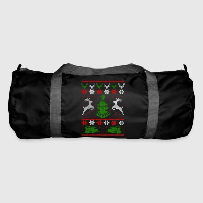Railroad locomotive Ugly Christmas - Duffel Bag