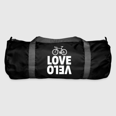 Cycling Love velo white - Duffel Bag
