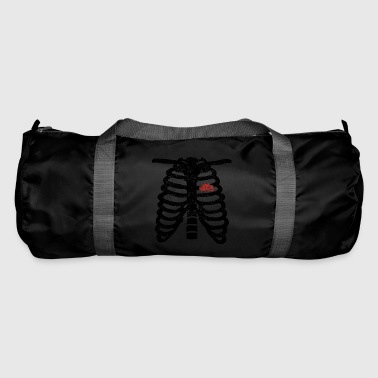 Heart skeleton heart love truck trucker driver - Duffel Bag
