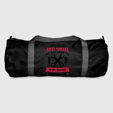 Mechanic in garage antisocial mechanic - Duffel Bag