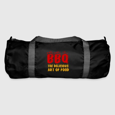 Barbecue barbecue BBQ coal Father's Day apron fire - Duffel Bag