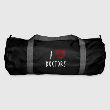 I love doctors nurse care gift - Duffel Bag