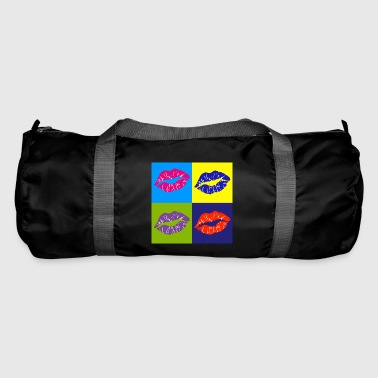 pop art lip - Duffel Bag