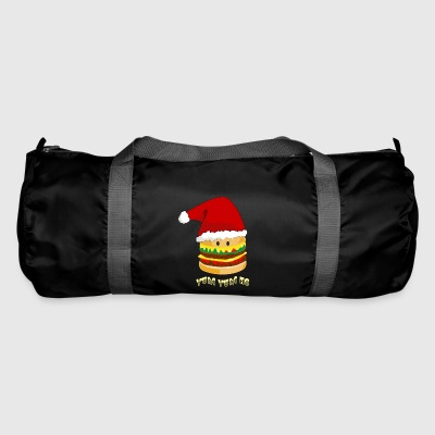 Christmas burger - Duffel Bag