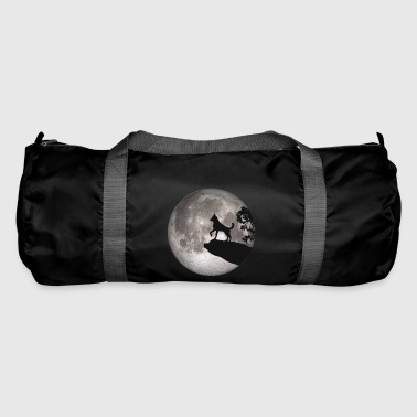 Full moon dog werewolf wolf howling dog - Duffel Bag