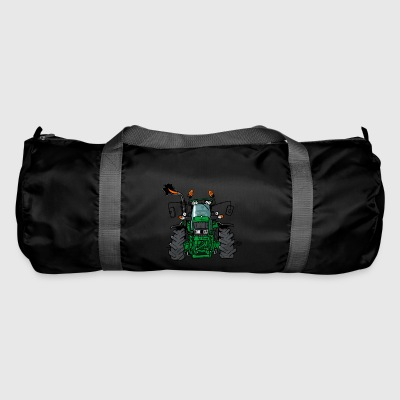 0175 Green tractor - Duffel Bag