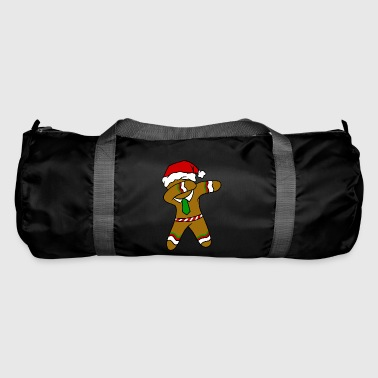 Dabbing Gingerbread Necktie Funny Xmas Holiday Pun - Duffel Bag