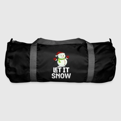 Let It Snow Funny Snowman Snowflakes Christmas Pun - Duffel Bag