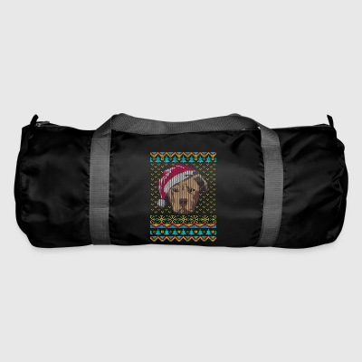 American Staffhordshire Ugly Christmas Sweater Ges - Duffel Bag