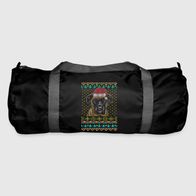 Boxer Ugly Christmas Sweater Gift - Duffel Bag