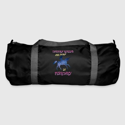 Unicorn queens are born in february - Duffel Bag