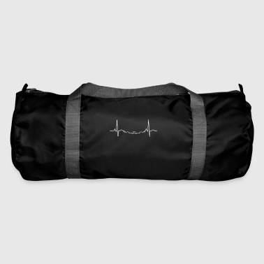 I love my car Ekg heart driving tuning car heart - Duffel Bag