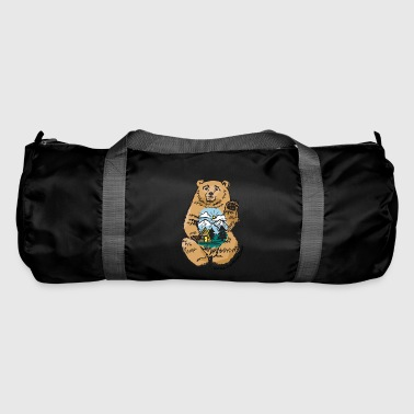 Happy belly bear - Duffel Bag