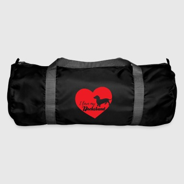 Teckel / Basset: I love my teckel - Sac de sport