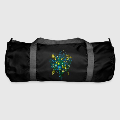 world map colors brazil - Duffel Bag
