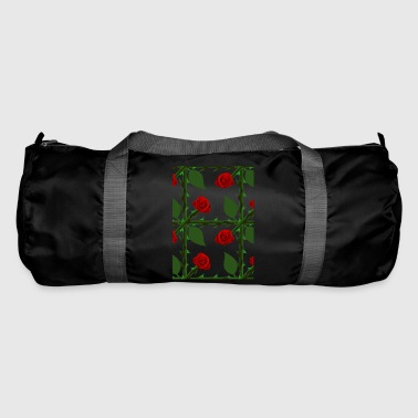 Red Rose Pattern - Duffel Bag