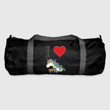 I love cute, colorful, cute unicorns. - Duffel Bag