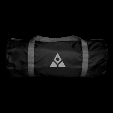 Sacred geometry gray pyramid circle in balance - Duffel Bag