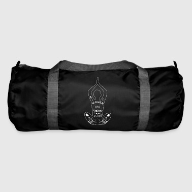 Women Are Strong As Hell Women Power Yoga White - Duffel Bag