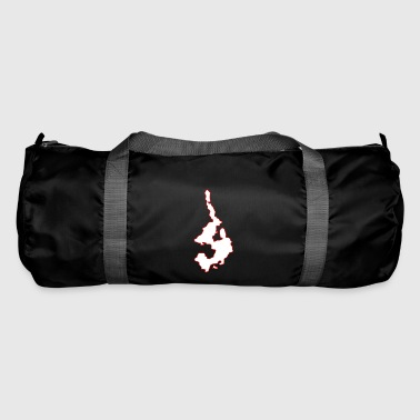 Island Outline Red - Duffel Bag