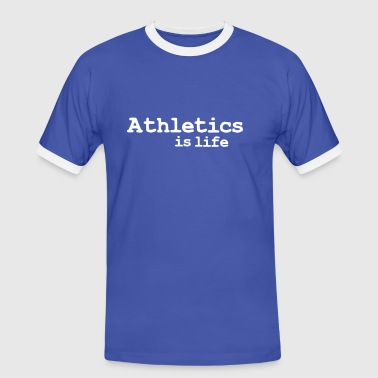 athletics is life - Herre kontrast-T-shirt
