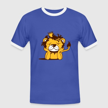 lion with crown - Men's Ringer Shirt