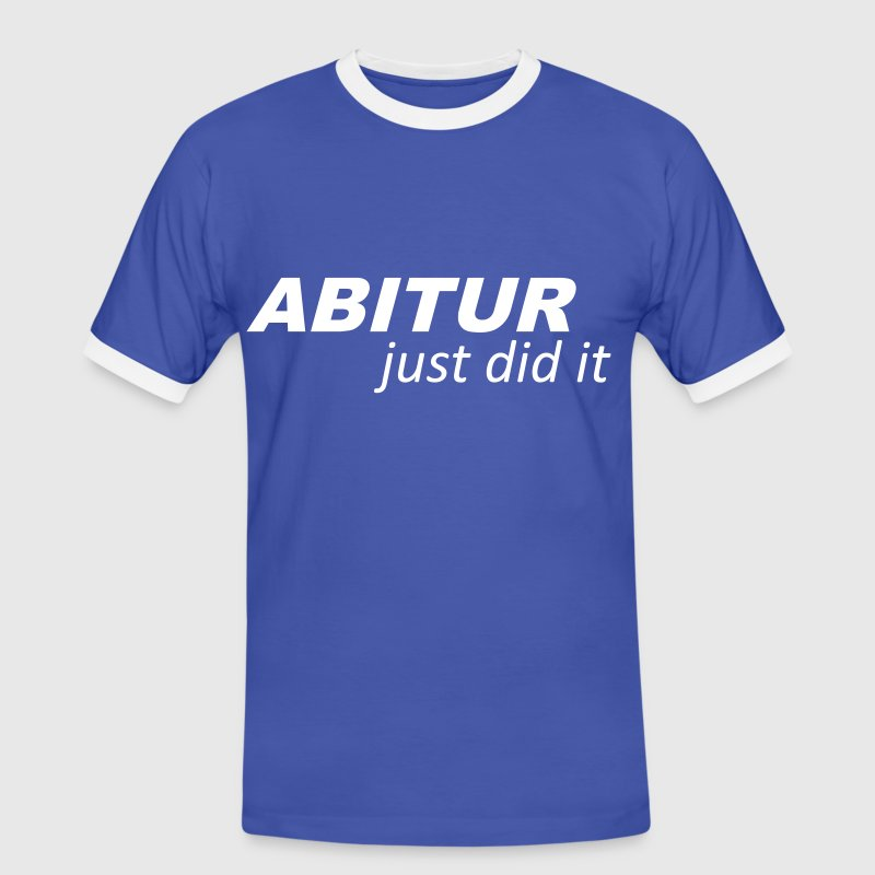Abitur - Abi - Just did it - Männer Kontrast-T-Shirt